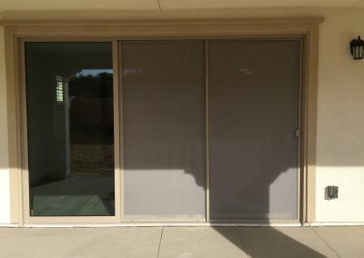Double Track Sliding Screen Doors with Pet Trough Mesh