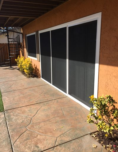 Three Panel Patio Doors with Solar