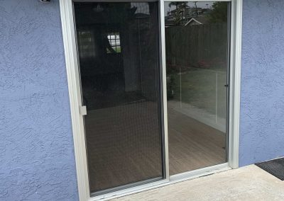 White Standard Sliding Screen Door