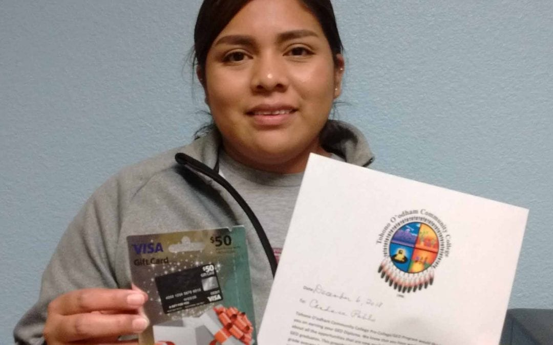 Candace Pablo, a GED graduate now attending TOCC.