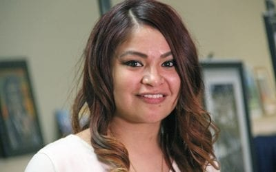 Cankdeska Cikana Community College Student Sets an Example For Her Family, and Her Tribe
