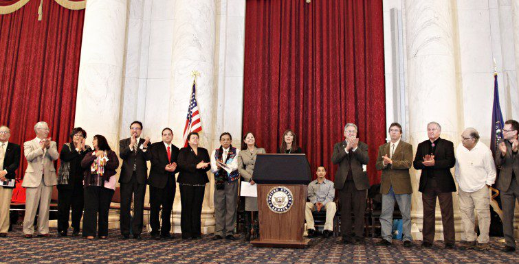 Tribal College Leaders in the Kennedy Caucus Room