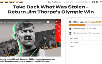 American Indian College Fund Supports Resolution to Restore Olympic Record to Legendary Native American Athlete Jim Thorpe