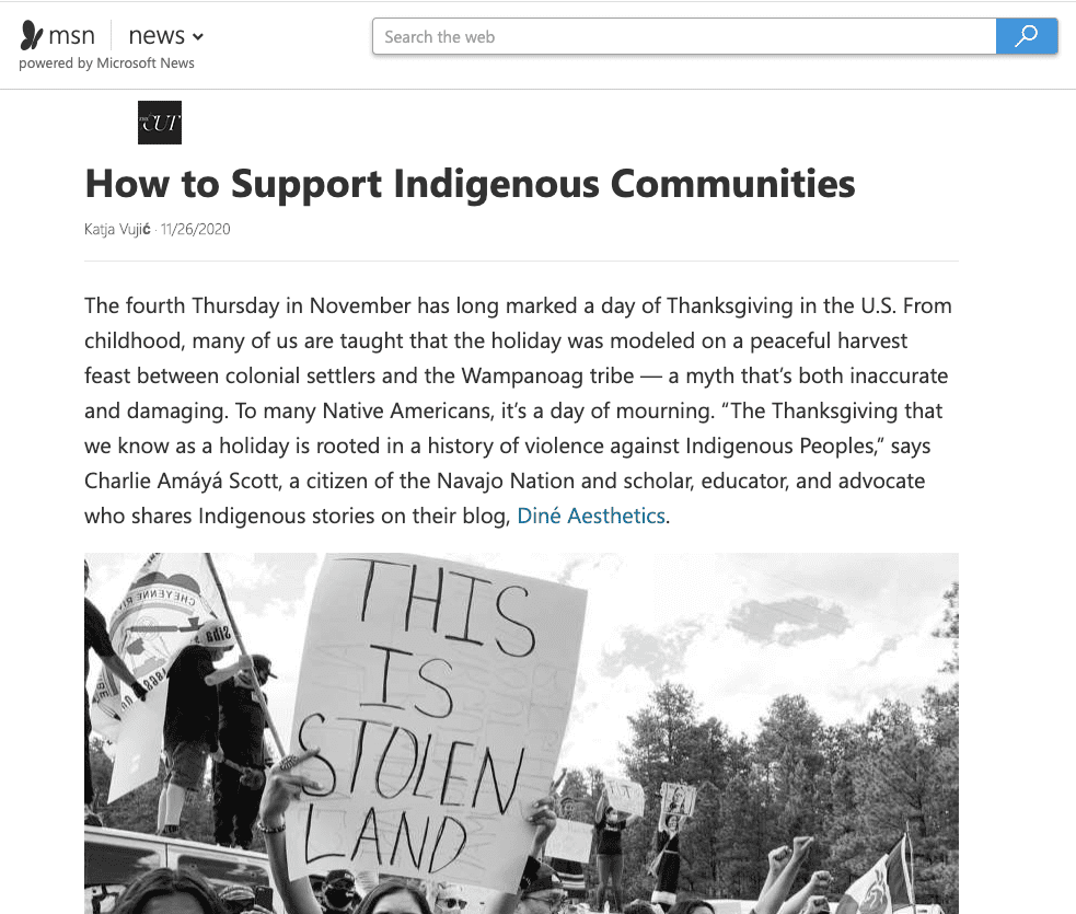 MSN How to Support Indigenous Communities