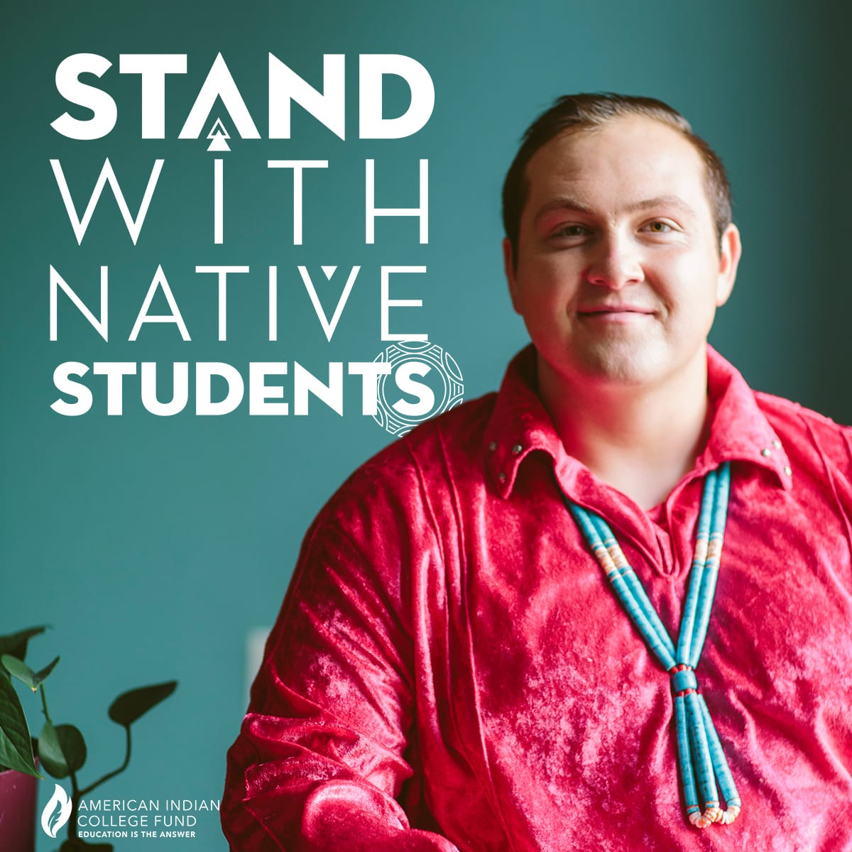 Stand with Native Students (white)