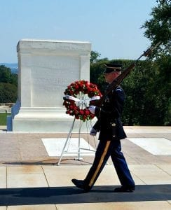 American Indian College Fund wreath at the Tomb of the Unknown Soldier Ñ at Arlington National Cemetery