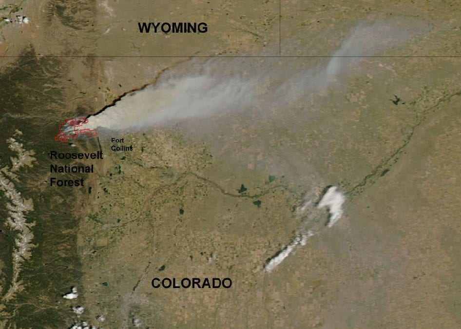 NASA Satellite Imagery of Colorado's High Park Fire