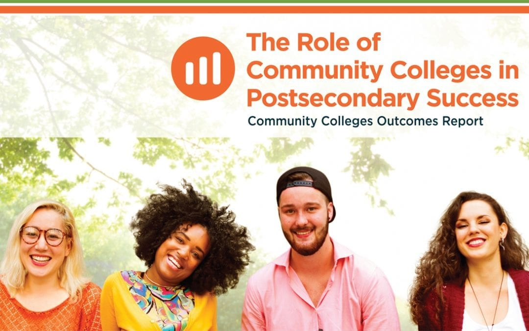 Cover of The Role of Community Colleges in Student Success with four students smiling