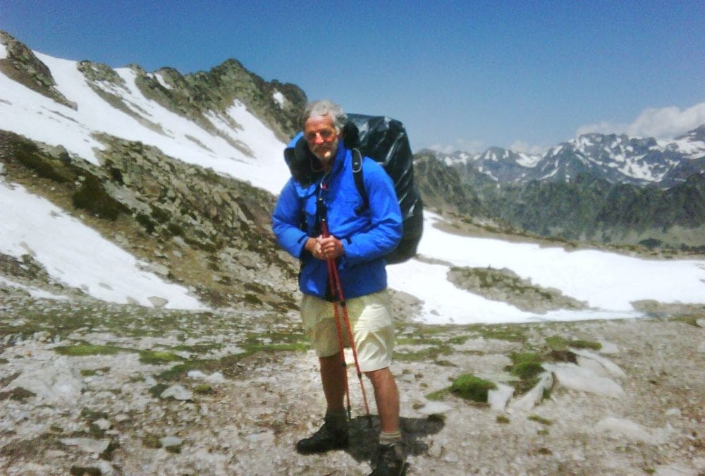 Dave Rogers on his 2010 Pyrenees trip.