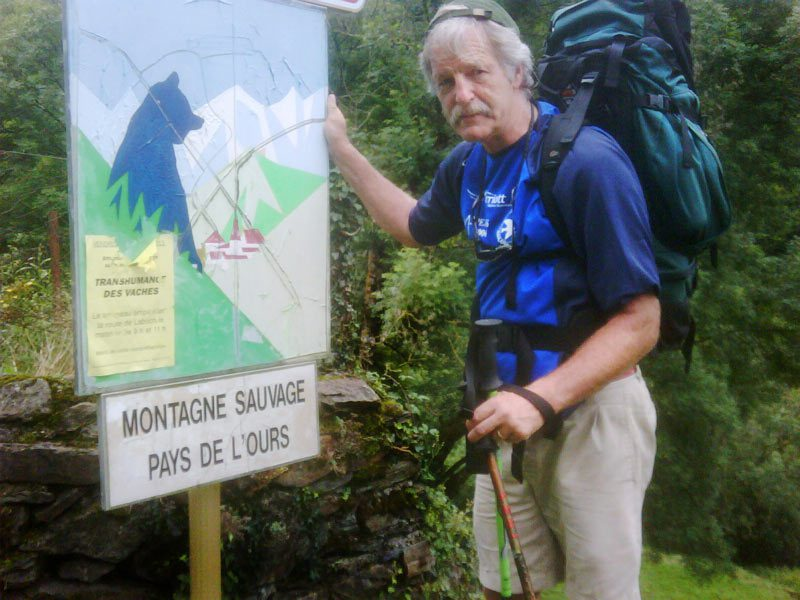 Dave Rogers has posted this photo of himself entering the wild mounts of the Ariege in the Pyrenees Mountains on the first week of his Pyrenees Challenge Trek.