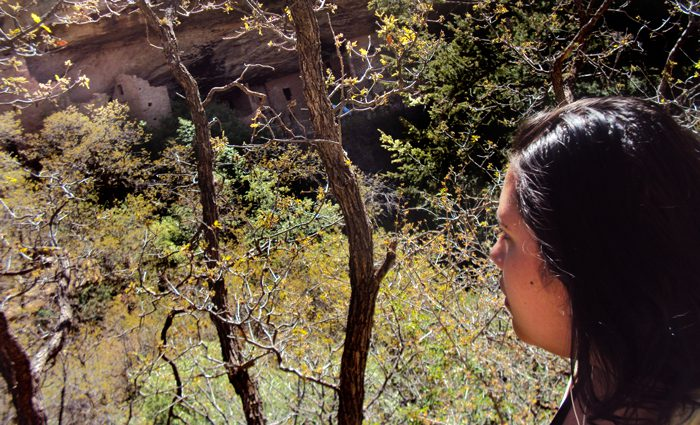Deanna on a hike in Mesa Verde National Park.