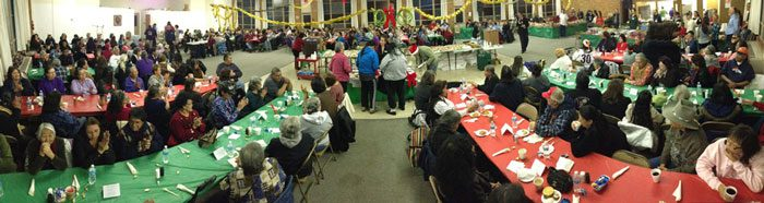 Panoramic view of the Elders Dinner.