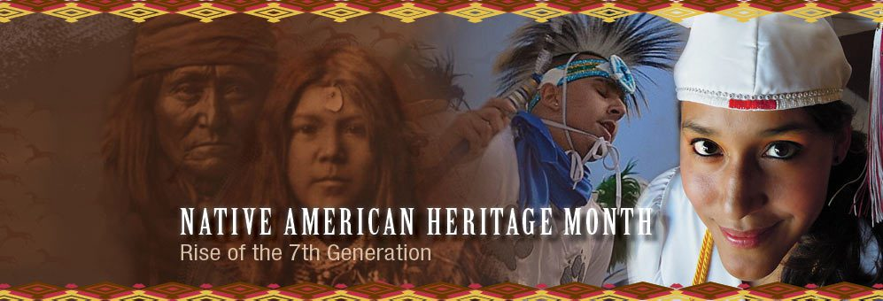 Native American Heritage Collage Banner