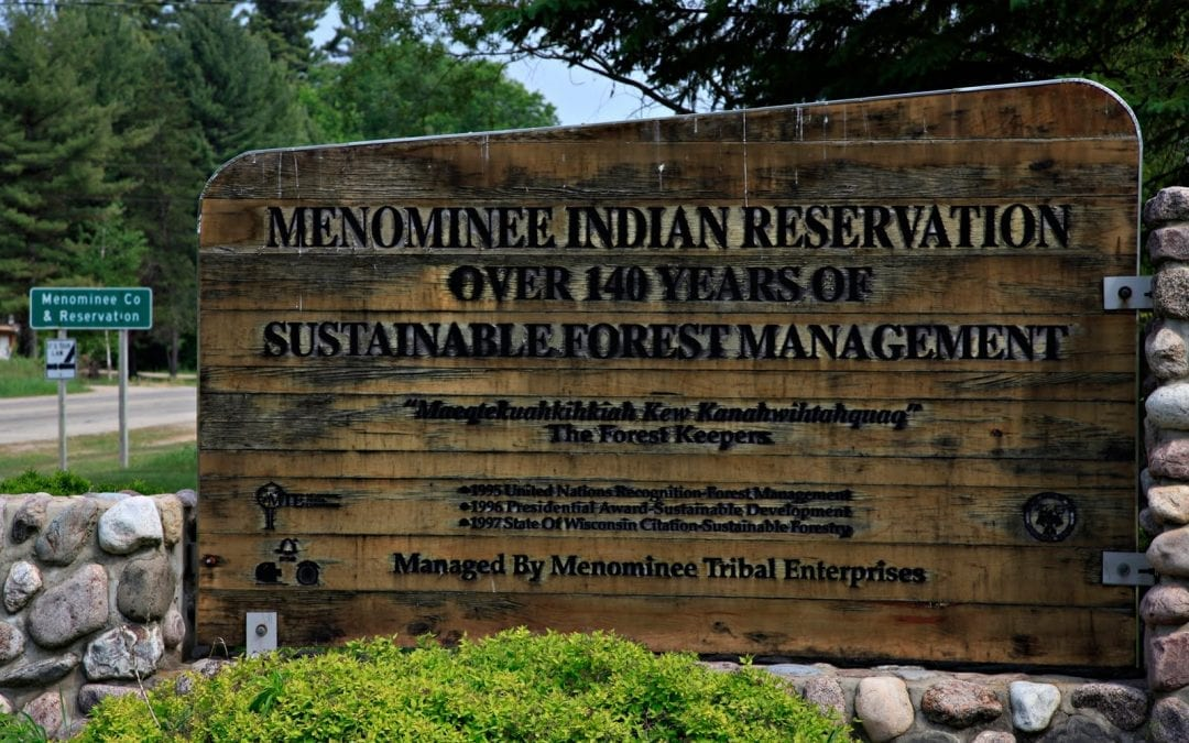 Entrance to the College of Menominee Nation.