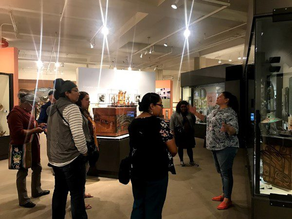 Ashely Verplank McClelland, of the Burke Museum, gives a talk on Pacific Northwest basketry.