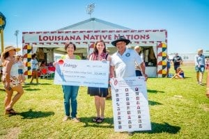Entergy presented the American Indian College Fund with a check for student scholarships.