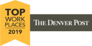 The Denver Post Top Work Places Badge