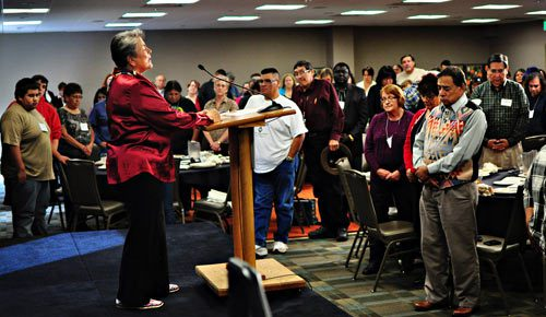 Woksale Oyate Wisdom of the People closing session for the grant in Denver, Colo.