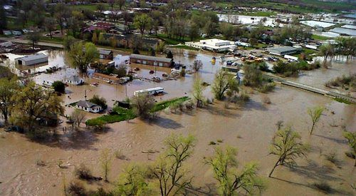 Eastern Montana flooding on Crow Reservation