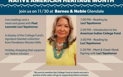 Luci Tapahanso, Poet Laureate of Navajo Nation to Read from Her Work Nov. 30 to Benefit American Indian College Fund