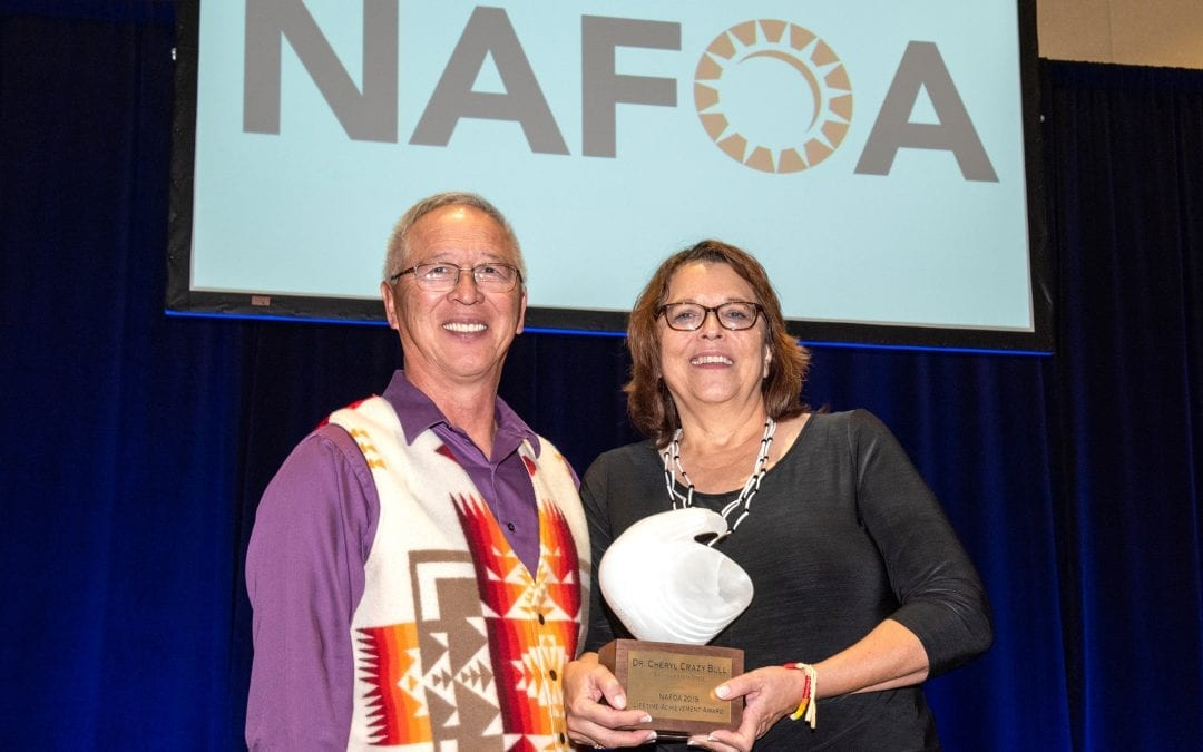 Cheryl Crazy Bull Presented with Lifetime Achievement Award by Native American Finance Officers Association