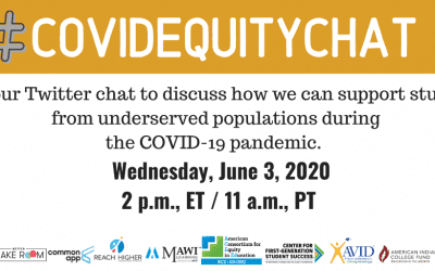 #COVIDEquity Chat June 3 As the nation grapples with how the COVID-19 pandemic has changed the higher education system, underserved populations are still being overlooked