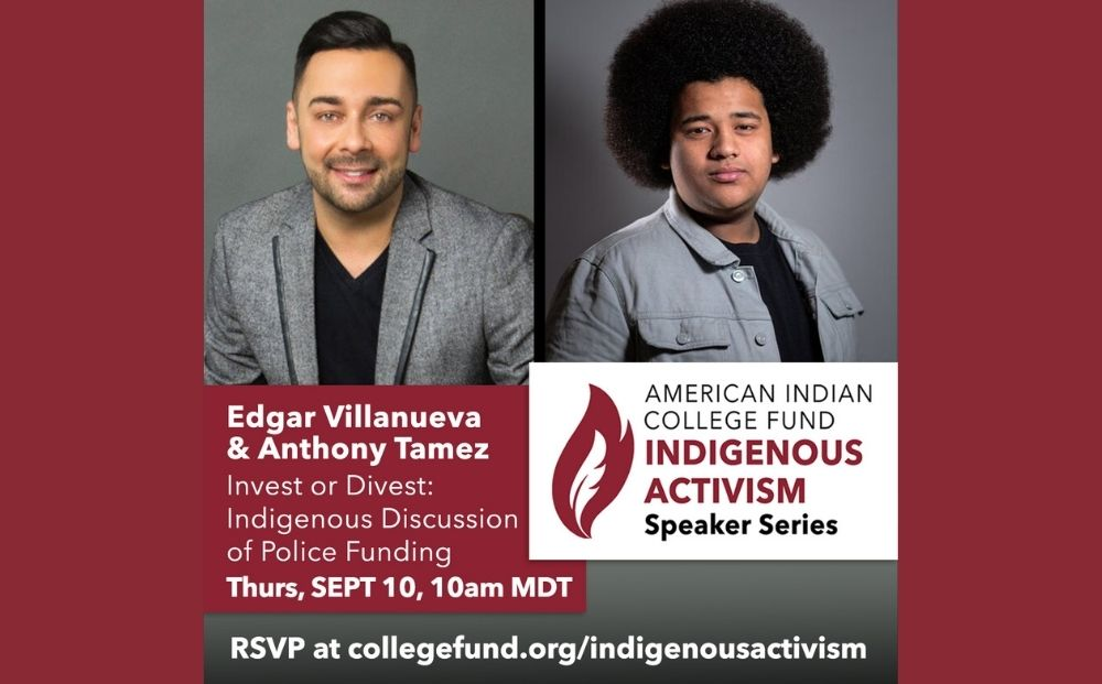Edgar Villanueva & Anthony Tamez discuss the duality of thoughts of investing or divesting from police funding from an indigenous perspective.