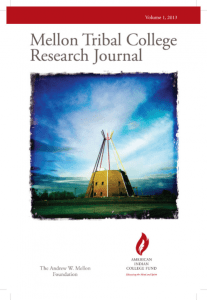Mellon Tribal College Research Journal V1, 2013