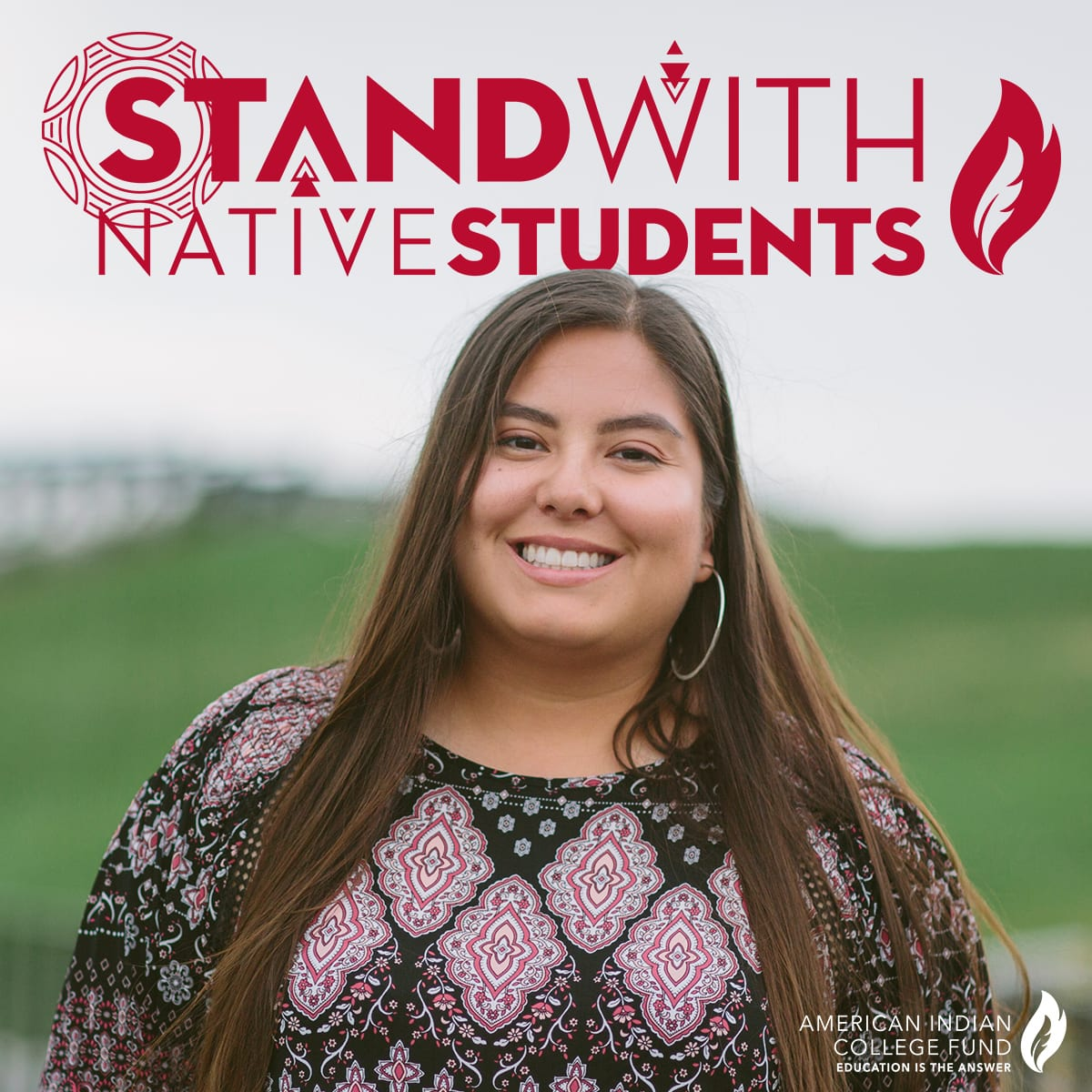Stand with Native Students (red)