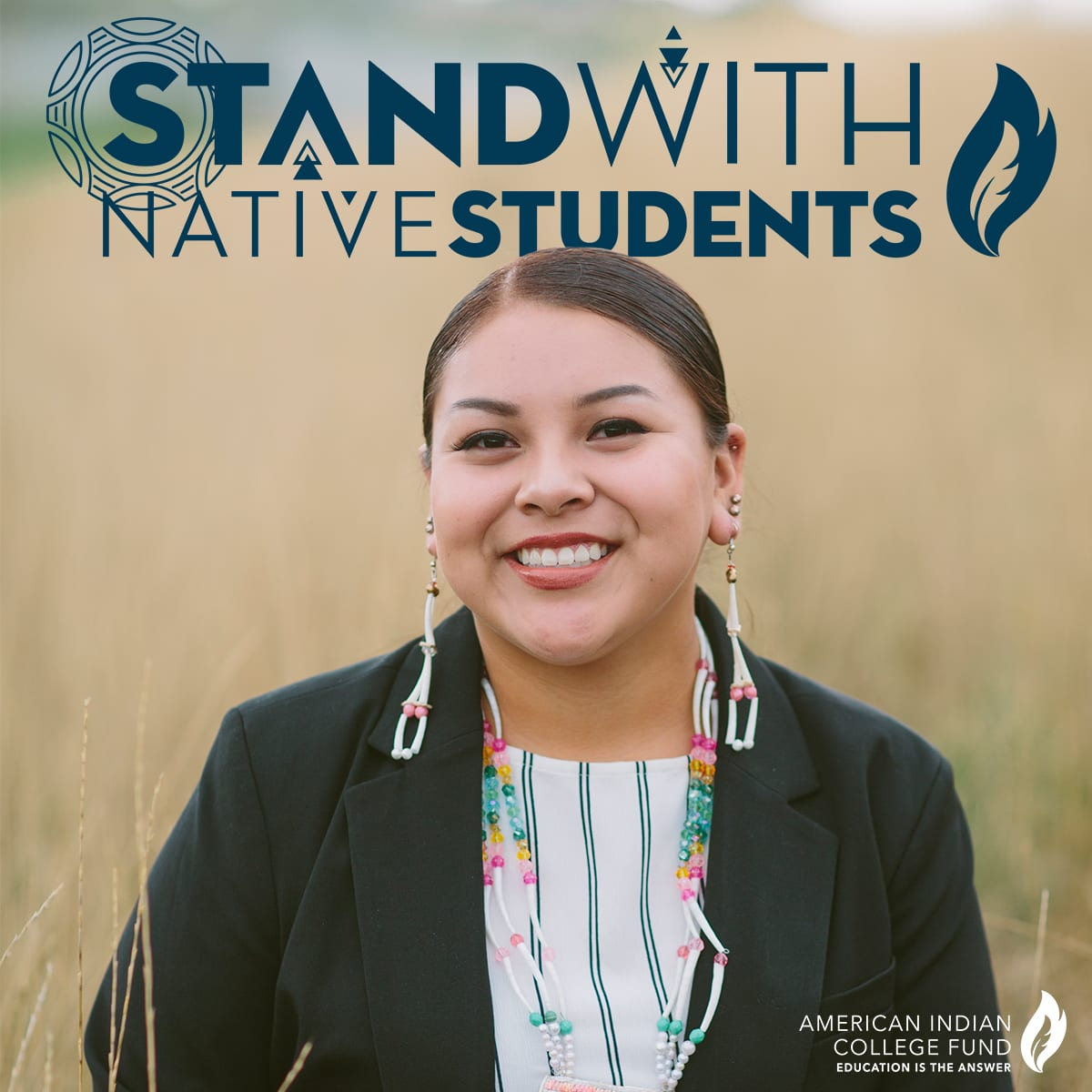 Stand with Native Students (blue)